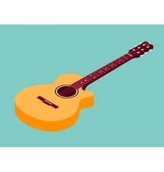 Isometric classical acoustic guitar icon vector image