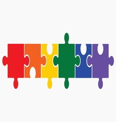 lgbt puzzle1 vector image vector image