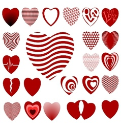 lots of heart designs set 02 vector image vector image