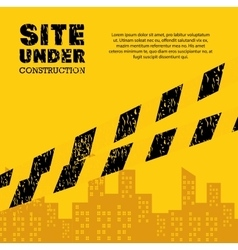 site under construction industrail sign vector image