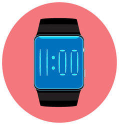 Smart watch icon flat isolated vector image vector image