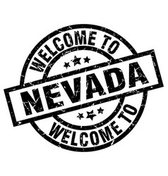 welcome to nevada black stamp vector image vector image
