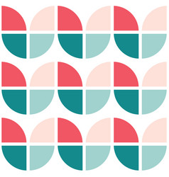 60s and 70s simple retro seamless pattern vector image