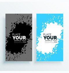 abstract watercolor splash banners set vector image