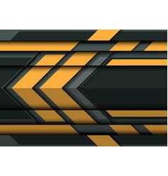 abstract yellow arrow on gray metal 3d vector image