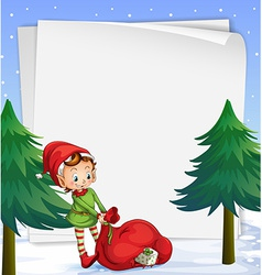 An empty template for christmas vector