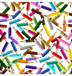 Background with colored pencils seamless pattern vector image