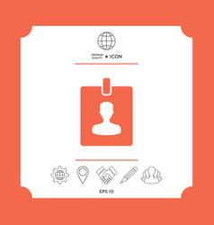 badge symbol icon vector image