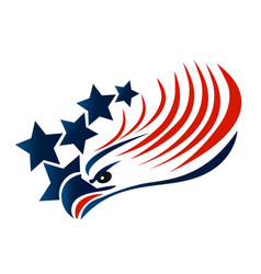 bald eagle american flag logo vector image