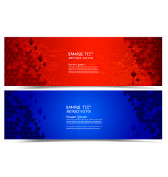 banner red and blue color geometric abstract vector image