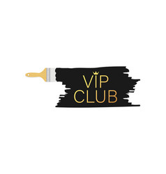 Banner with brushes paints - vip club vector