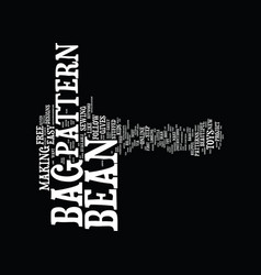 Bean bag refills text background word cloud vector