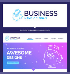 Beautiful business concept brand name knowledge vector