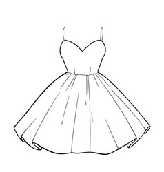 beautiful romantic summer dress with a fluffy vector image