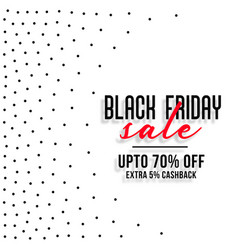 black friday sale white background with small dots vector image