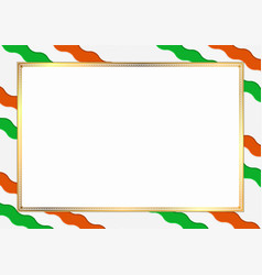 Border made with niger national colors vector