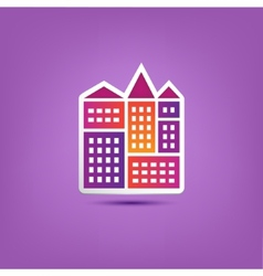 Building icon logo city houses composition vector