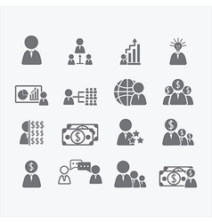 Business Human icons vector
