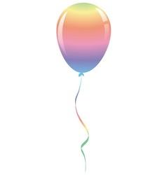 Candy rainbow balloon ribbon fantasy isolated vector