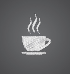 Cap of tea sketch logo doodle icon vector