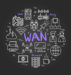 Chalk board concept - wan vector
