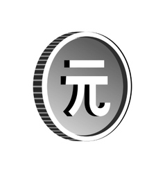 China yuan sign icon simple style vector