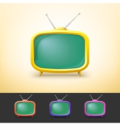 Color TV set in cartoon style vector image