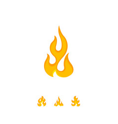 Colorful flame icon on white vector