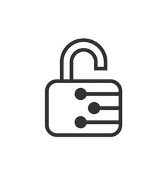 cyber security icon in flat style padlock locked vector image