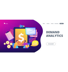 Demand planning concept landing page vector