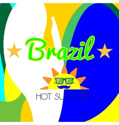 Digital brazil hot summer with sun vector image