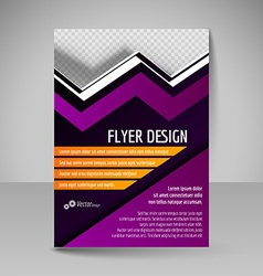 Editable A4 poster for design cover of magazine vector