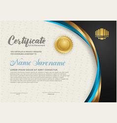 Elegant and futuristic certificate template vector