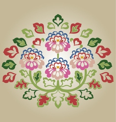 fancy flower vector image