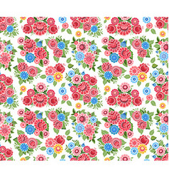 fancy seamless texture with stylized tiny flowers vector image