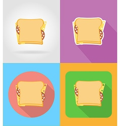 Fast food flat icons 11 vector