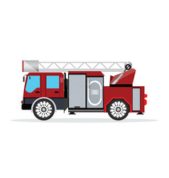 Fire truck isolated on white vector