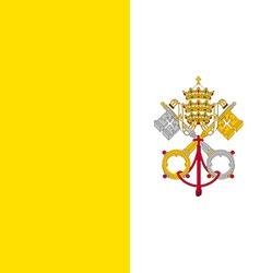 Flag of Vatican city vector