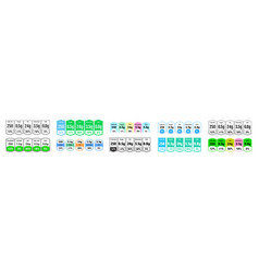 food nutrition facts and daily value package vector image