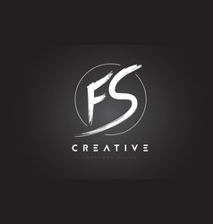 Fs brush letter logo design artistic handwritten vector