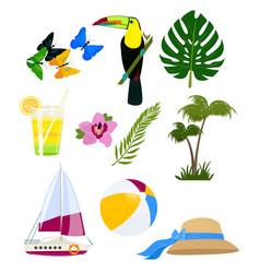 funny summer logos vector image