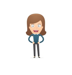 Girl manager suitable for use in dialogs with vector image