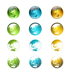globe logo or icon set vector image