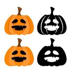 Halloween pumkins vector