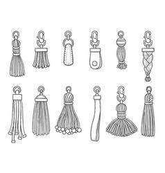 handbags accessories leather textile technician vector image