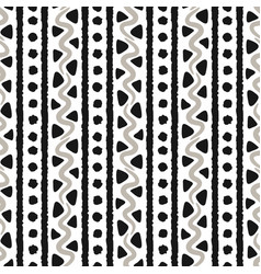 handmade ethnic style seamless pattern vector image