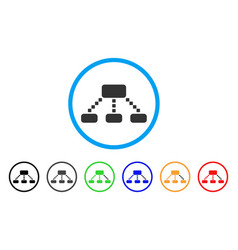 Hierarchy scheme rounded icon vector