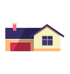 House in flat country cottage vector