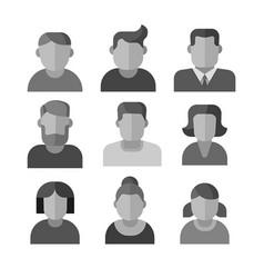 human avatars set vector image