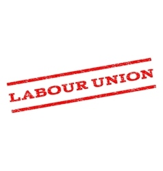 Labour Union Watermark Stamp vector